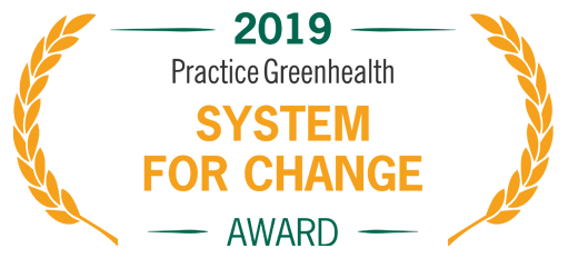 2019 Practice Greenheatlh System For Change Award