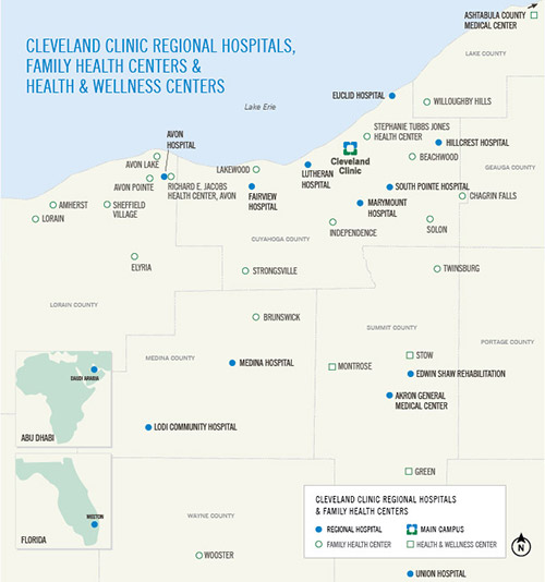 Cleveland Clinic Regional Locations in Northeast Ohio