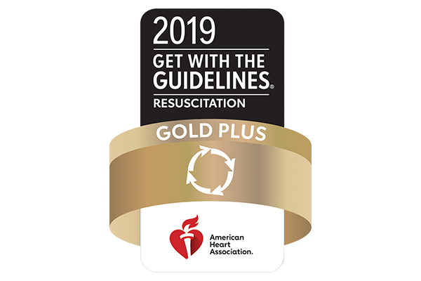 American Heart Association Get With the Guidelines Resuscitation Gold Plus Award Logo