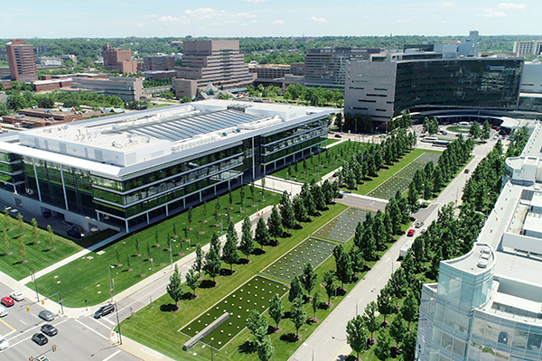Ariel view of the Cleveland Clinic campus