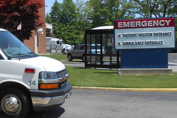 Ashtabula County Medical Center's Emergency Room, located in Ashtabula, Ohio