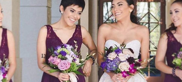 From left: Naraly Serrano with her sister Jazmine Serrano on her wedding day | Cleveland Clinic Florida Giving