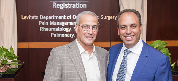 From left: Jeff Levitetz and Wael Barsoum, MD, President of Cleveland Clinic Florida | Cleveland Clinic Florida Giving