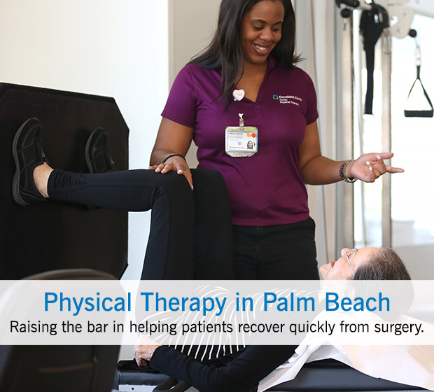Cleveland Clinic Florida Physical Therapy Suite in Palm Beach County