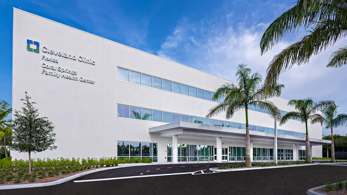 Cleveland Clinic Florida's Coral Springs Family Health Center - Opening July, 2018