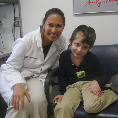 Daniel with Violette Recinos, MD, in 2012 | Cleveland Clinic