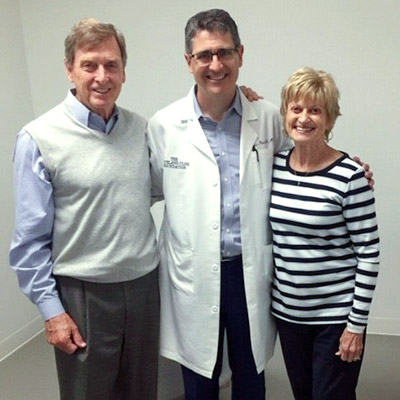 John and Linda Foster with Eric Roselli, MD