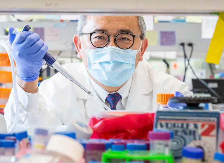 Jae Jung, PhD, Chair of the Lerner Research Institute's Department of Cancer Biology. Photo credit: Denise Crew
