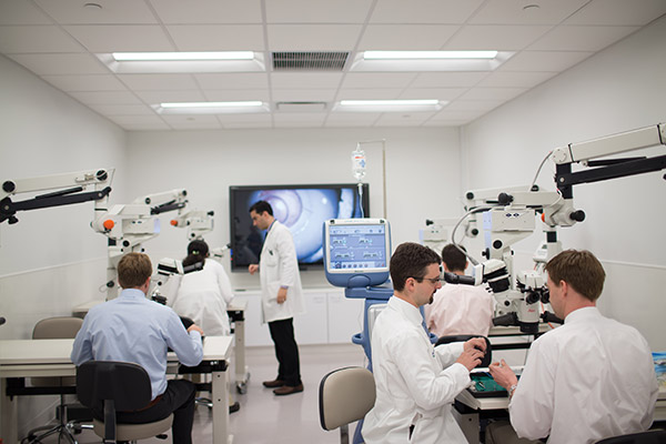 The Louise Timken Microsurgical Education Lab at Cleveland Clinic's Cole Eye Institute