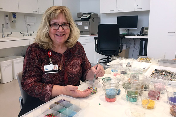 Lisa Shea, art therapist at Cleveland Clinic Cancer Center