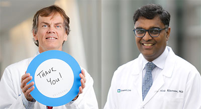 Cancer researchers Keith McCrae, MD, and Alok Khorana, MD | Cleveland Clinic