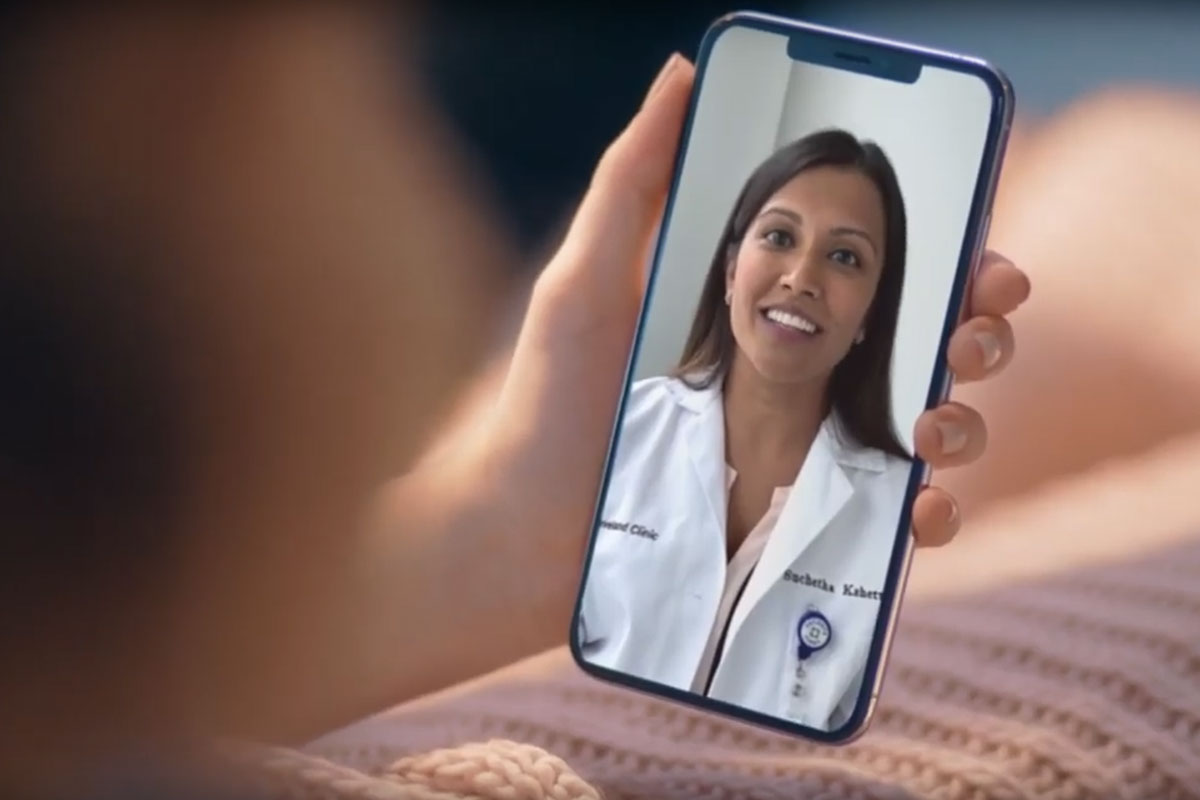 Cleveland Clinic provider doing virtual visit
