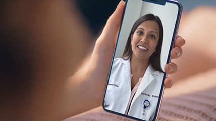 Cleveland Clinic provider helping patient on virtual visit