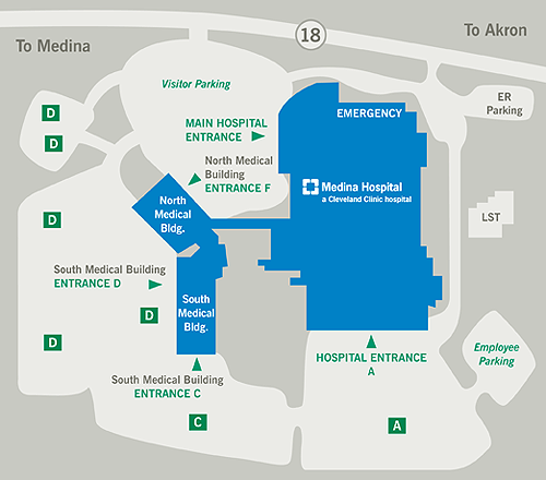 Cleveland Clinic Map on