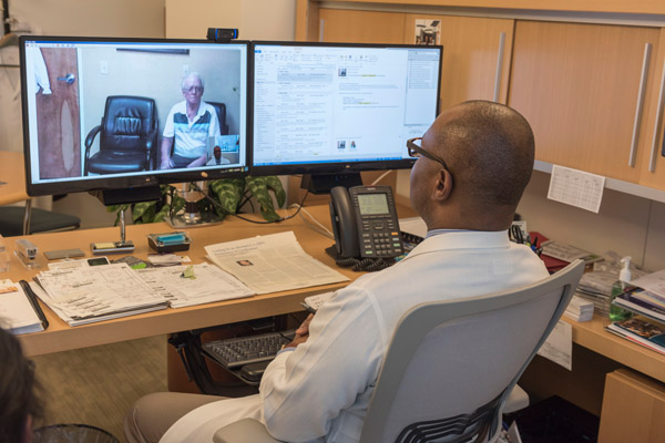 Dr. Wint speaks with a patient in Elko, NV using our telemedicine services.