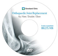 Cleveland Clinic | Free DVD on Hip Knee Shoulder and Elbow Joint Replacement
