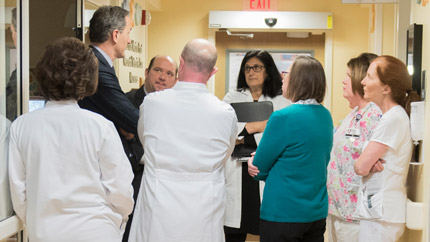 President and Chief Executive Officer of Cleveland Clinic, Tom Mihaljevic, MD, speaking with Cleveland Clinic caregivers