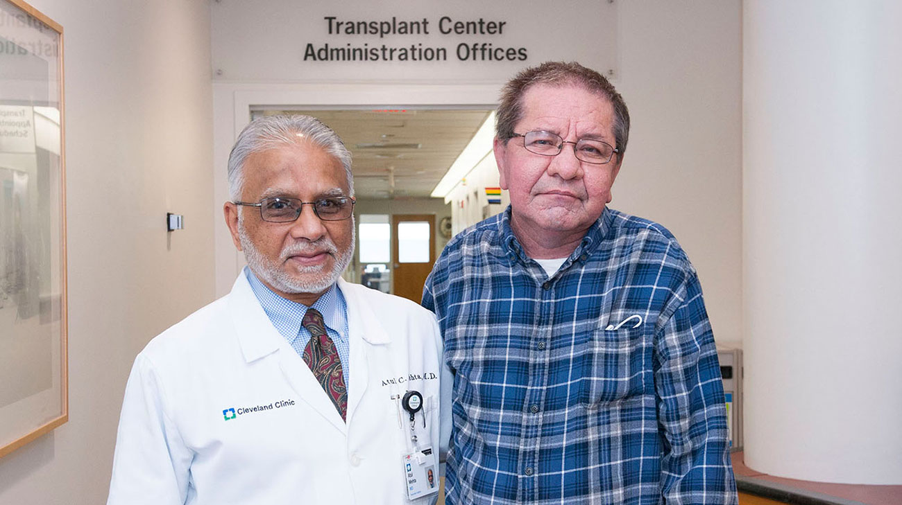 Dr. Mehta, a pulmonologist at Cleveland Clinic, has treated Tom since the lung transplant 26 years ago. (Courtesy: Cleveland Clinic)