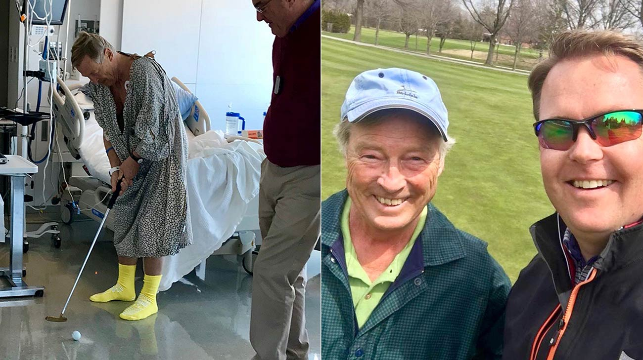 Christian never gave up his love of golf, he was back on the course two months after his transplant surgery. (Courtesy: Christian Bernadotte)