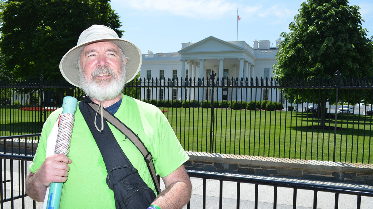 Gene Shimandle arrived at the White House on May 8, 2018. It was 1 year after he received a heart transplant at Cleveland Clinic. (Courtesy: Cleveland Clinic)