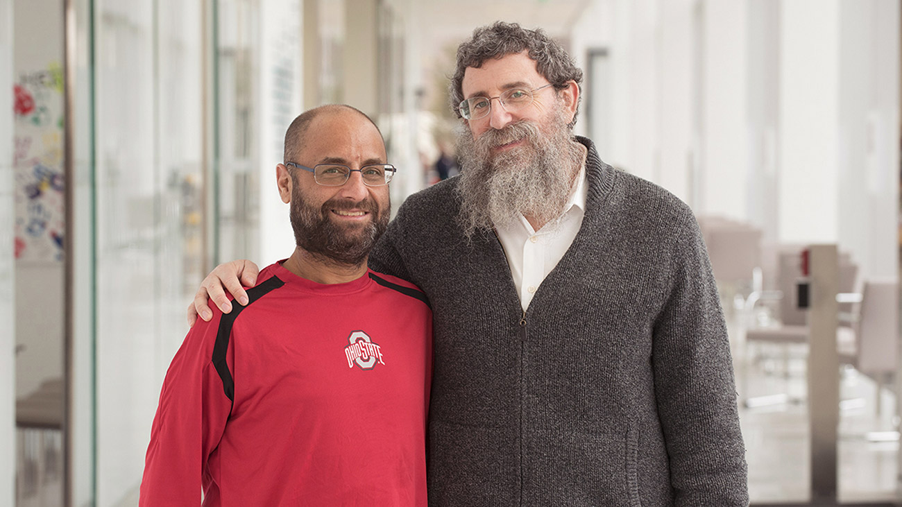 Adam Levitz liver transplant recipient and Rabbi Ephraim Simon living liver donor