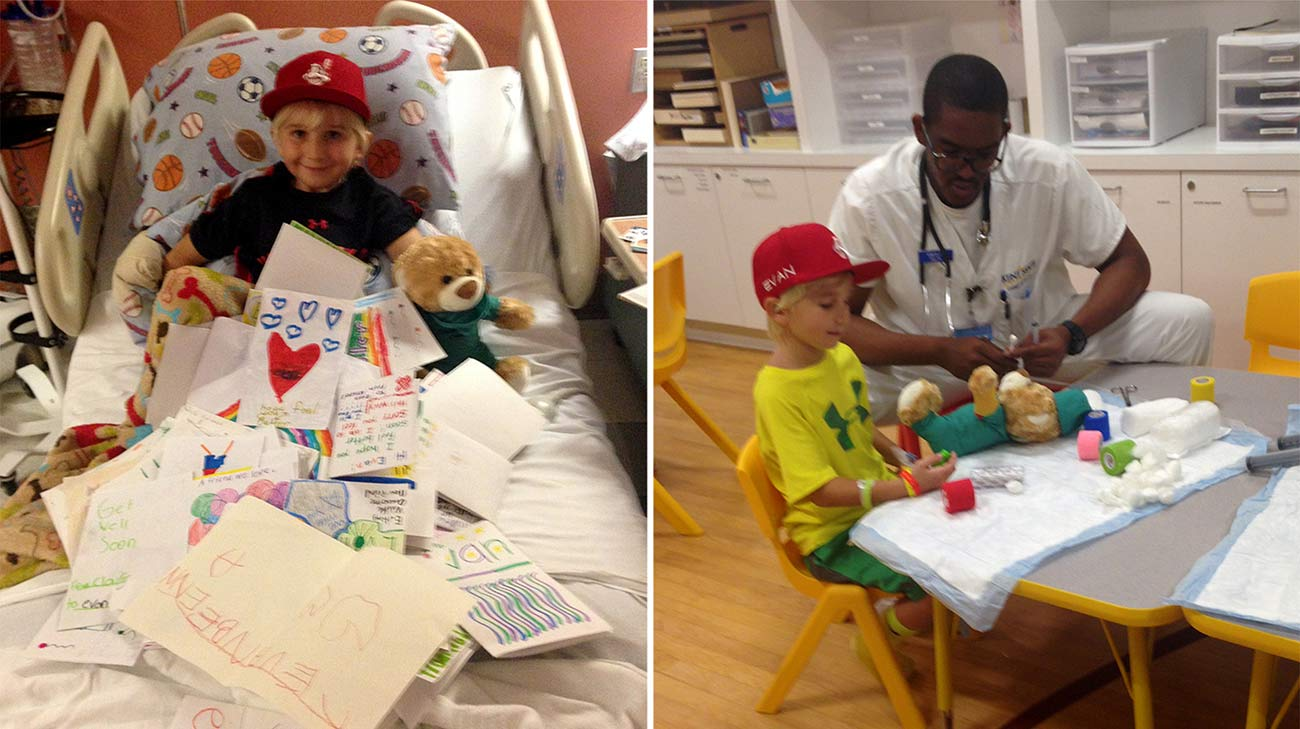 Evan spent nearly 6 weeks at Cleveland Clinic Children's being treated for AFM. (Courtesy: Susan Coyne)
