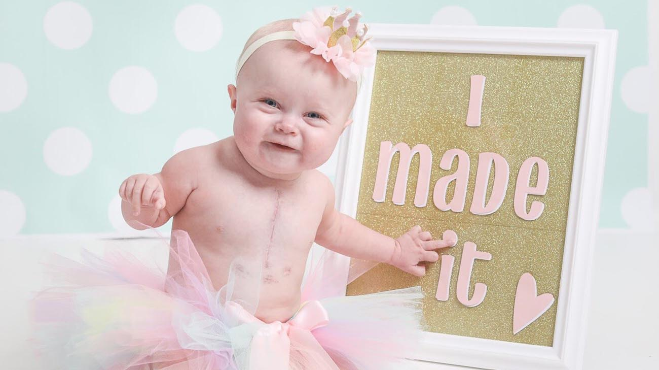 Paisley is a happy 1-year-old baby who is working hard to catch up on her developmental milestones. (Courtesy: Natalie Bowers Photography )