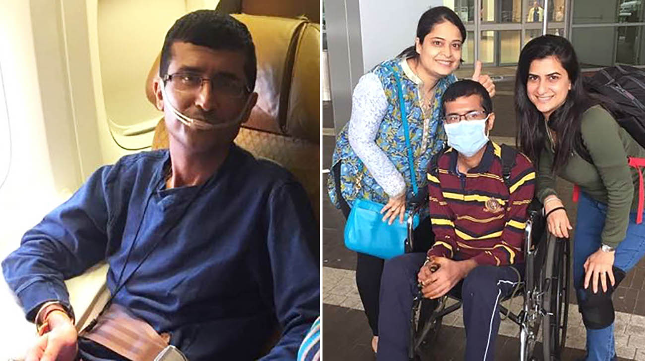 Ajit Tolani flew from India to Cleveland, with his family, to get a life-saving lung transplant at Cleveland Clinic.