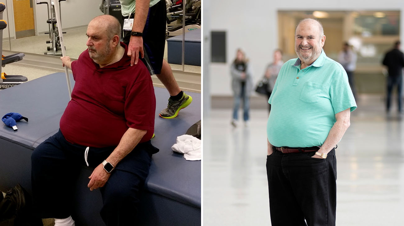 Mitchell before and after participating in Functional Medicine's Ketogenics program. (Courtesy: Mitchell Wax and Cleveland Clinic)