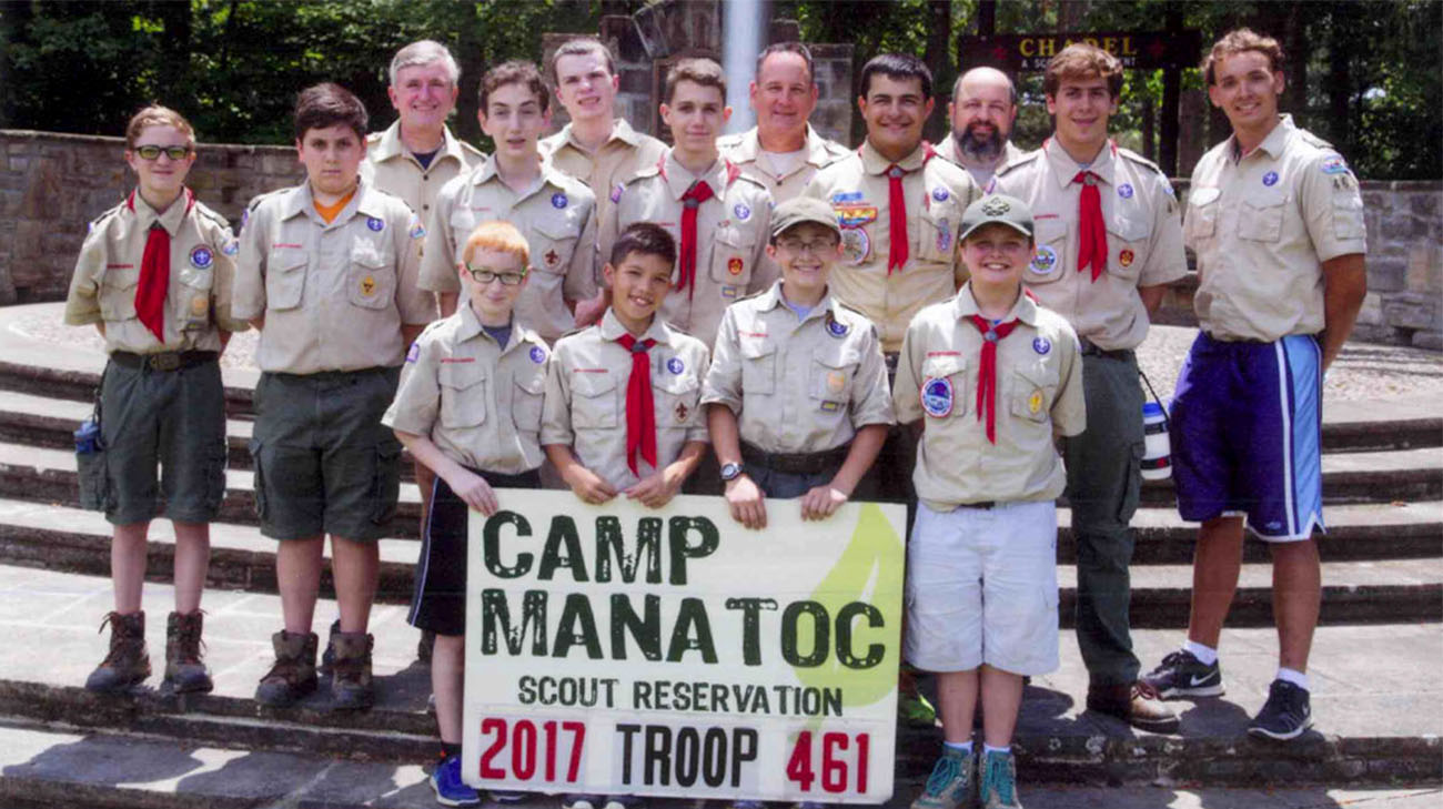 Timmy with Boy Scout Troop 461. (Courtesy: Ed Hargate)