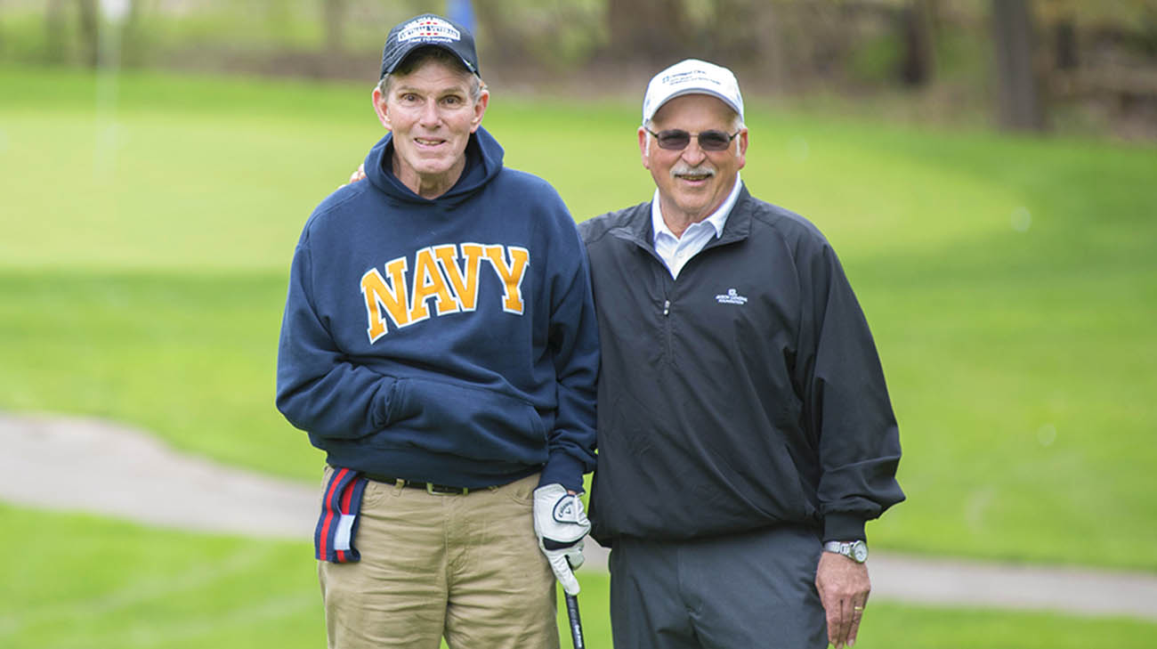 Vietnam veteran Charlie Morris and Ron Tristano at Challenge Golf.
