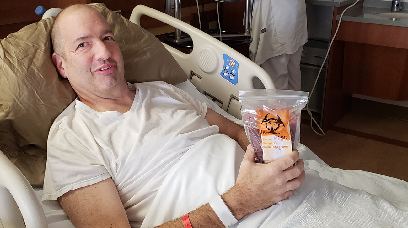 Mike Balla received a bone marrow transplant at Cleveland Clinic to treat adult acute myeloid leumemia. (Courtesy: Mike Balla)