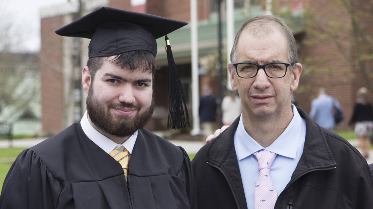 In May 2019, Mike was healthy enough to attend his son's college graduation. (Courtesy: Mike Balla)