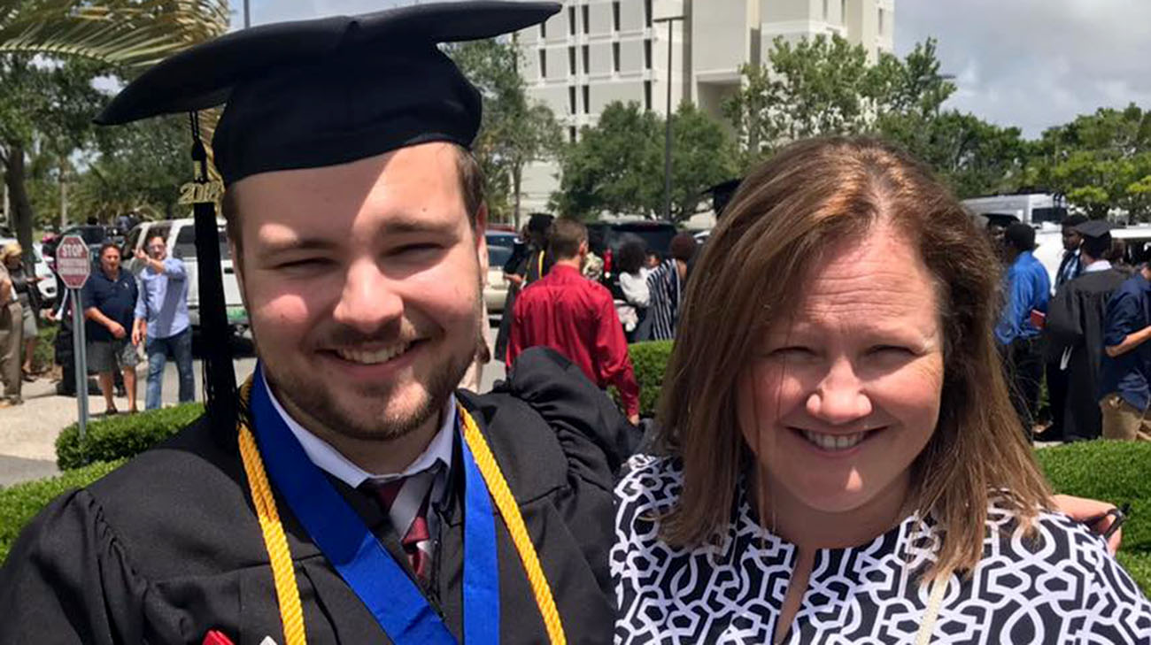 Paige and her son, Josh, at his college graduation. (Courtesy: Paige Jerome)