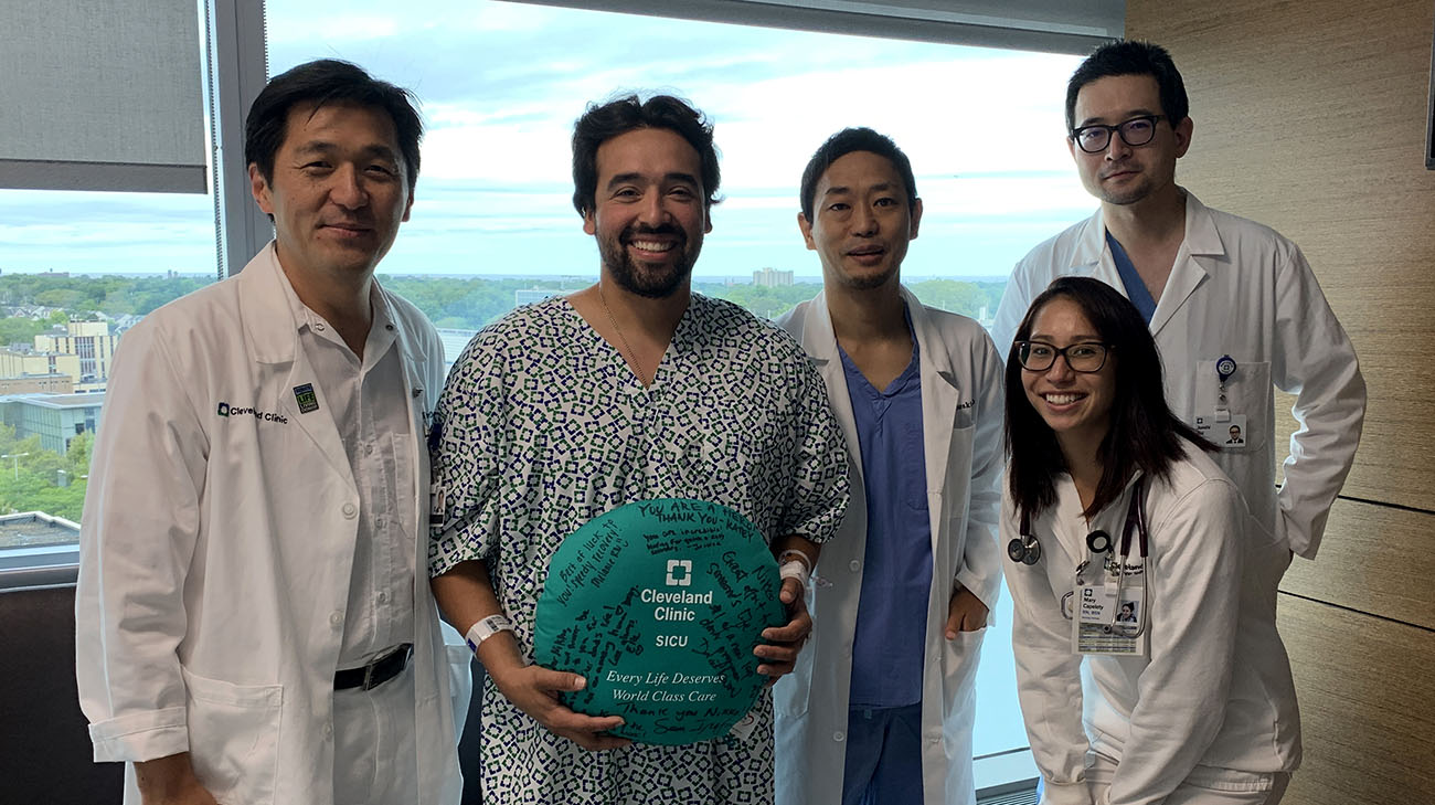 Nikko with his care team, including Dr. Kwon. (Courtesy: Shiri Aviv)