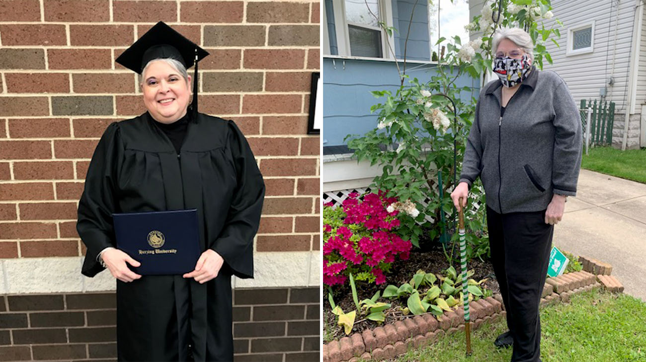 Marilyn graduated with her bachelor's degree in January 2020, just two months before getting sick with COVID-19. (Courtesy: Marilyn Schneider)