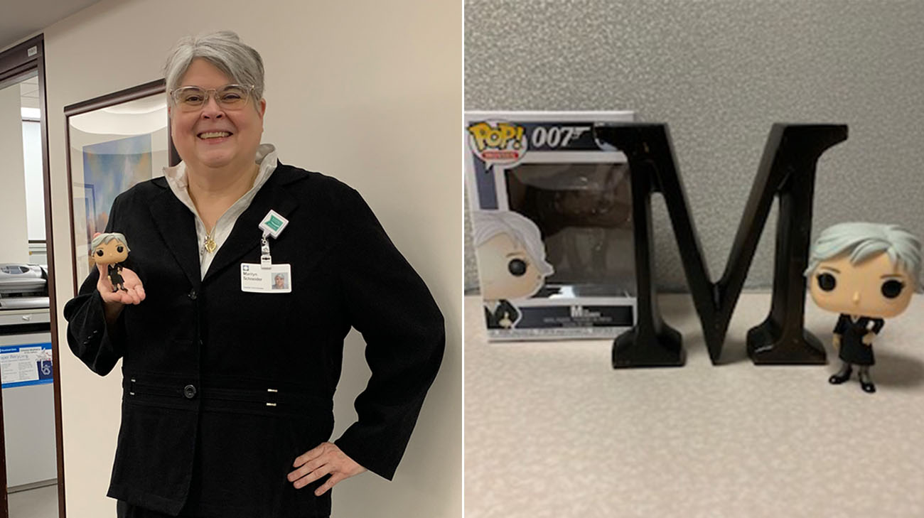 Marilyn's nickname at work is 'M,' just like the boss in the James Bond movies. (Courtesy: Marilyn Schneider)