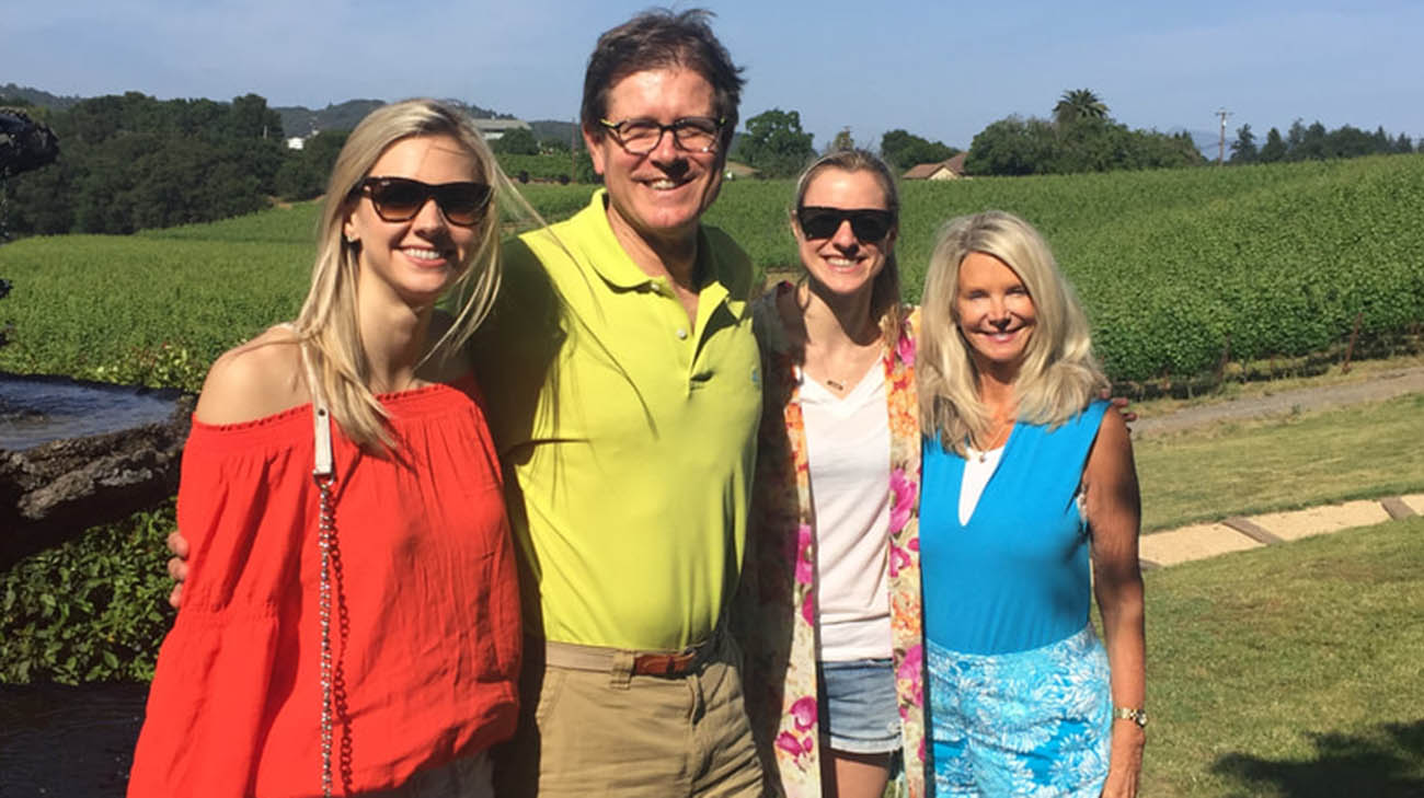 Dr. Rick Wilson with his wife, Deborah, and daughters, Katie and Victoria.
