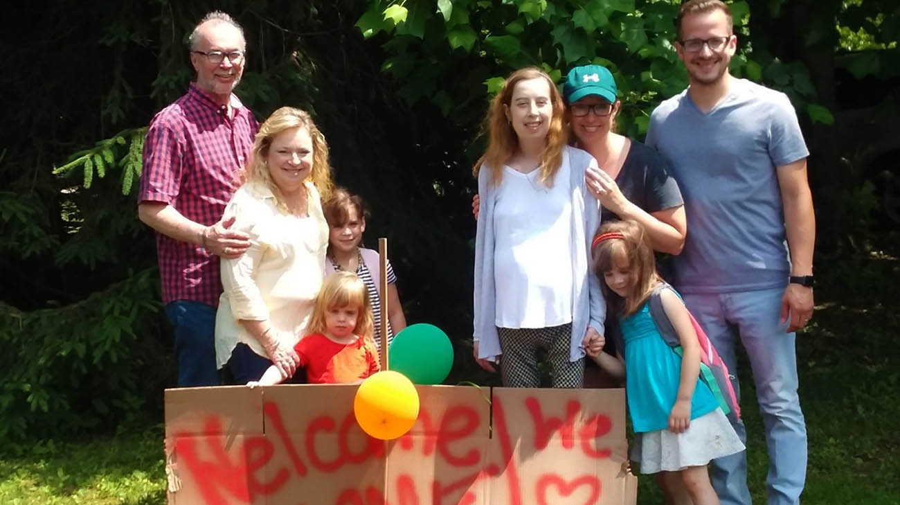 Jessica's family welcoming her home after undergoing a heart transplant at Cleveland Clinic.