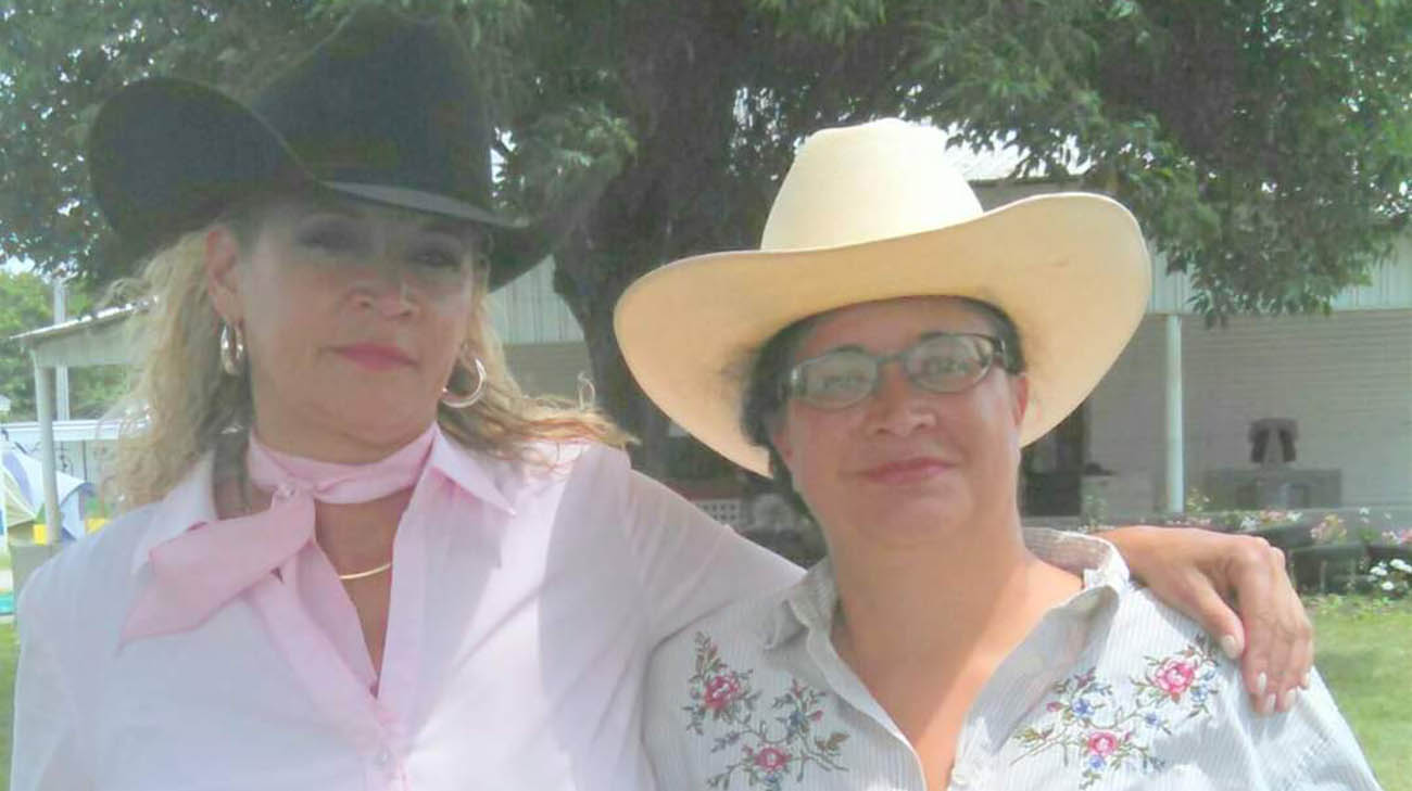 Breast cancer patient, Tamara, with her sister, Monica.