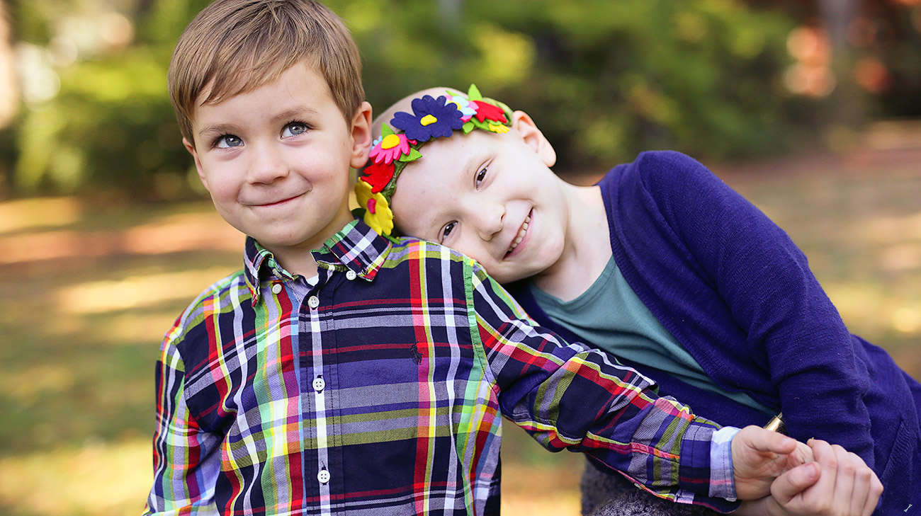 Pictured here with her 5-year-old brother, Lincoln;  Piper's surgical biopsy discovered a rare form of sarcoma leading to eight rounds of chemotherapy and 25 rounds of radiation. (Courtesy Arellia Williams)