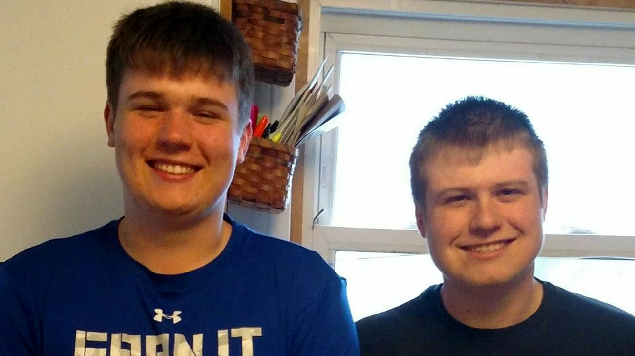 Kevin (right) and his brother Joe. (Photo courtesy: Cori Detweiler)