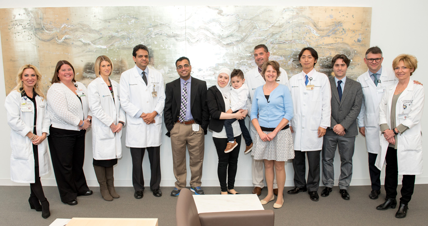 Four-Year-Old Boy Meets Lifesaving Liver Donor from Halfway Around the World: Group Photo | Cleveland Clinic Patient Stories