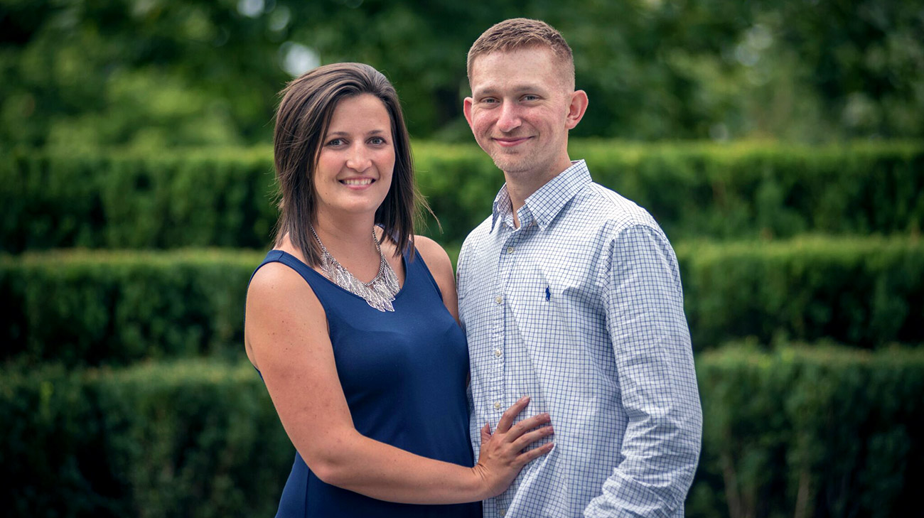 Cleveland Clinic patient Justin Singer and his wife Morgan