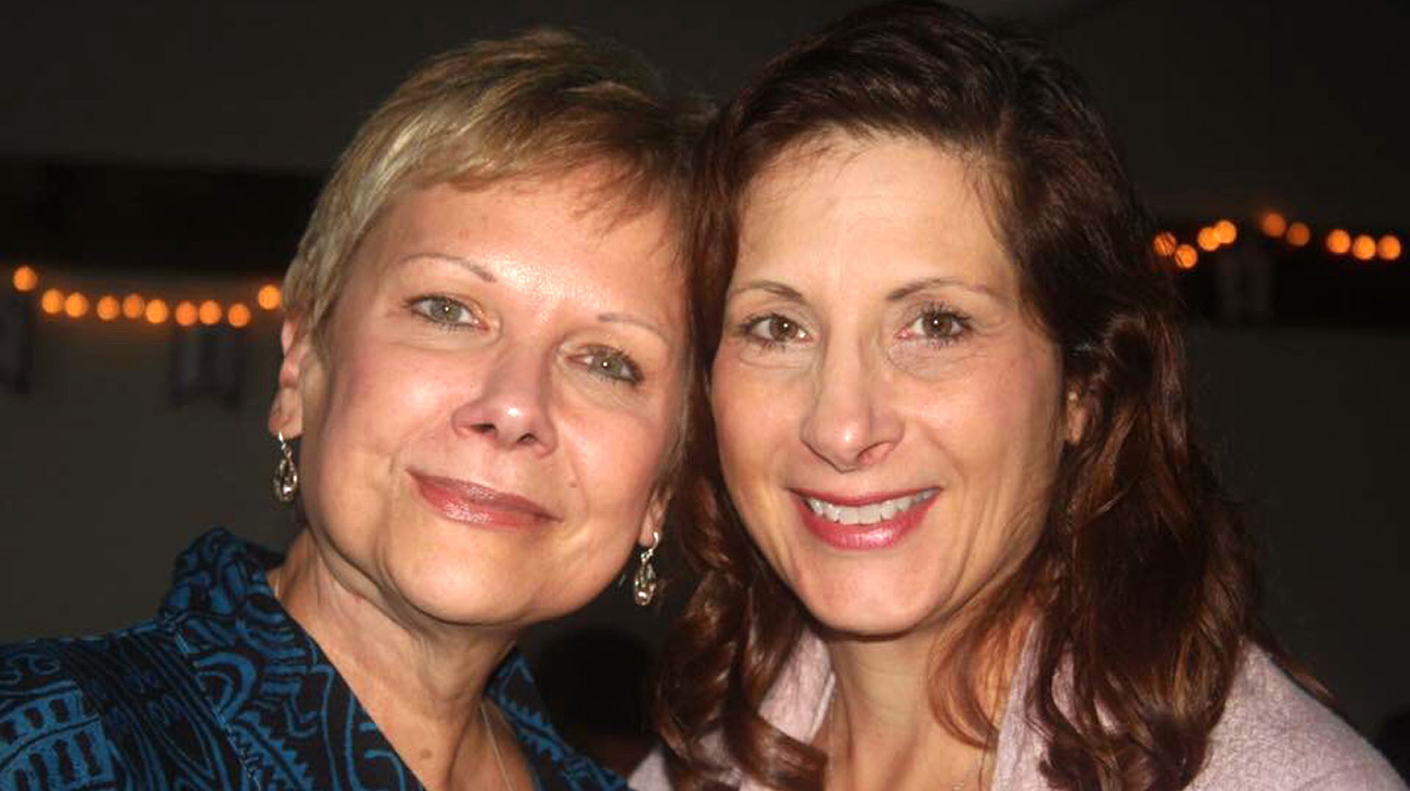 Deb Miller (left) with her best friend Kelly Yanda (5 years after surgery).
