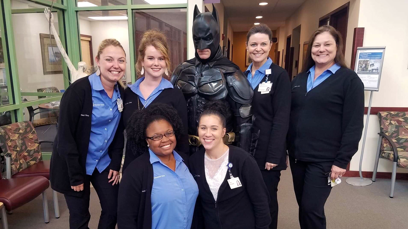 Patient Dressed as Batman Celebrates Last Day of Cancer Treatment | Cleveland Clinic