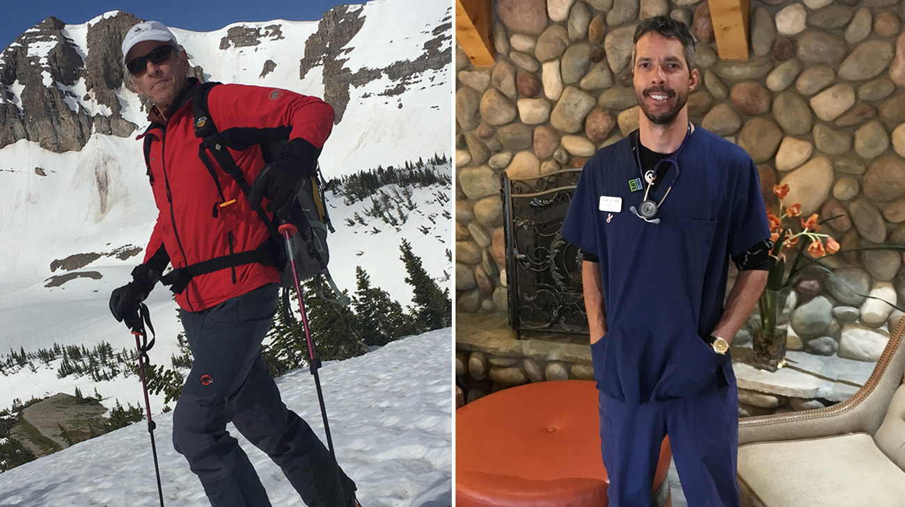 David (left) and Mark (right) live in Jackson, Wyoming. They didn't know each other prior to Mark hearing about David needing a living donor liver transplant.