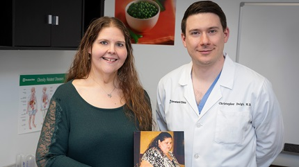 Stephanie Cagna and Dr. Christopher Daigle
