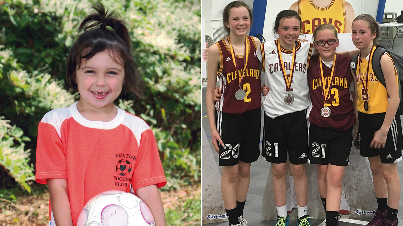 Sophia has been playing sports ever since she was 4-years-old