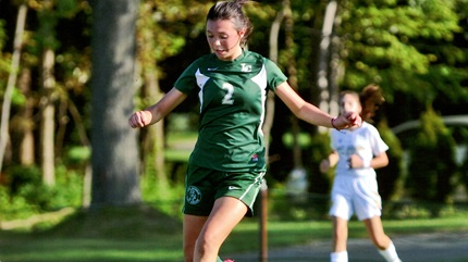 Sophia playing soccer during her freshman year at Lake Catholic High School, in Mentor, Ohio